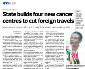 STATE BUILDS FOUR NEW CANCER CENTRES TO CUT FOREIGN TRAVELS